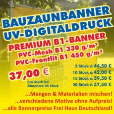 Bauwerbung Bauzaunbanner & Co.